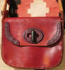 handmade leather purse with holster for the ruger lcp or kel tec p 3at