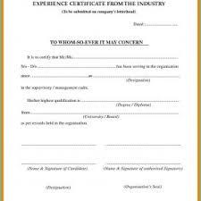 Sample Experience Certificate Format For School Teacher Best Of
