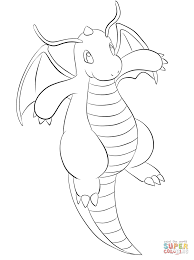 pokemon coloring pages dragonite