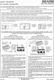 craftsman 13953778 user manual 3 function transmitter manuals and guides l0707148