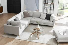 adams l shape sectional sofa dove gray