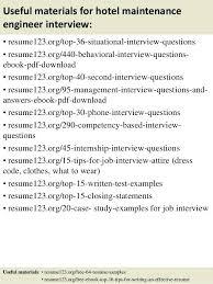 mechanical maintenance engineer resume sample pdf top 8 hotel samples  useful materials for