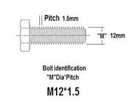 Metric Wheel Stud Chart How To Choose Correct Wheel Lug Nuts Size Or Wheel Locks For