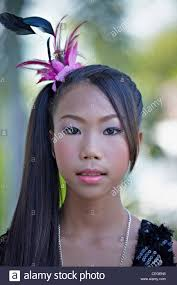 10 year old thai with face makeup and hair styling for pageant thailand southeast asia