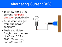 alternating current circuit. 4 3 direct current dc a circuit containing battery is in the always flows same direction duracell + alternating