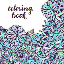 zentangle coloring page doodle flowers pattern in vector creative fl background for packaging or