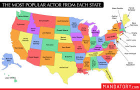 The Each Popular State 935x600 Actor Mapporn From Most