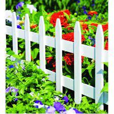 vigoro 36 in wood picket garden fence