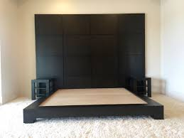 platform bed with built in nightstands. Perfect Nightstands Custom Made Espresso Platform Bed With Nightstands On Built In D