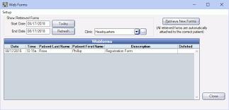 Open Dental Software Web Forms Retrieve
