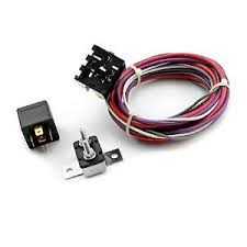 electric cooling fan wiring harness amp relay street rod sbc sbf image is loading electric cooling fan wiring harness amp relay street