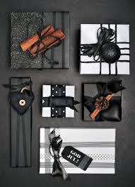 black white gift wrap
