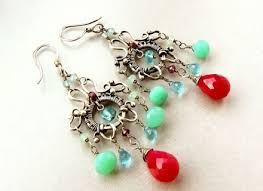 hand made sterling silver handmade chandelier earrings made to