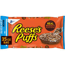 reese s peanut er puffs breakfast cereal 35 oz box