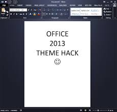 Word 2013 Themes Darker Office 2013 Theme Hacks Office 2013 Themes