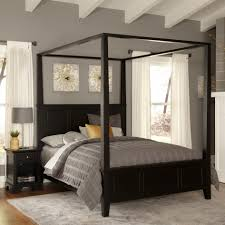 King And Queen Decor Chrome Canopy Bed