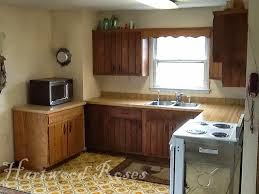 to help with the traffic flow my brother moved the cabinet that was beside the electric stove opening up a larger area to pass through the kitchen to the