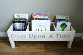 kids storage bookcase once upon a bookshelf baby nursery book bin toy