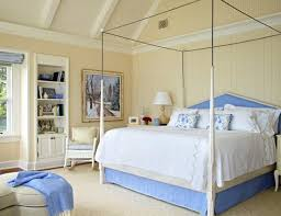Restful Blue-and-White Bedroom