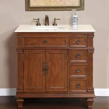 36 inch marble top bathroom single vanity cabinet off center left sink 0210cm