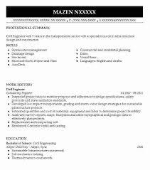 civil engineer fresher resume pdf best example