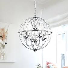 metal orb chandelier chrome finish crystal large world market