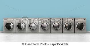 row of washing machines. Modren Row Washing Machine Empty Row  Csp21584026 For Of Machines W