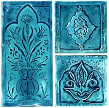 hand made moorish tile turquoise le glaze decorative