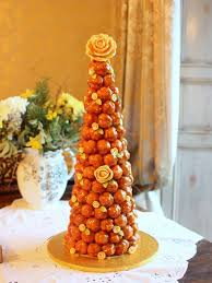 Croquembouche Of 140 Profiteroles French Wedding Cakes