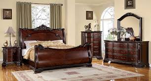 sleigh bedroom furniture. beautiful sleigh amazoncom furniture of america clairmonte baroque style sleigh bed  eastern king brown cherry finish kitchen u0026 dining intended bedroom