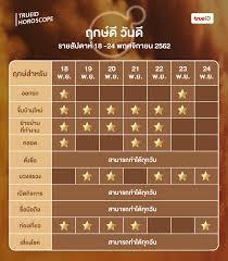 ฤกษ์ดี วันดี รายสัปดาห์ 18 -24 พฤศจิกายน 2562 (