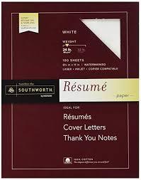 Amazon Southworth 40% Cotton Resume Paper White 40 Lbs Cool Southworth Resume Paper