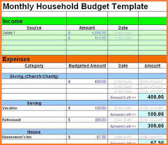 sample household budget 9 sample household budget spreadsheet excel spreadsheets group
