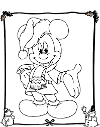 Mickey Mouse Coloring Page For Christmas Within Pages - glum.me
