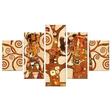 Lupia Vogue quadro su Tela 5 pezzi L'albero della vita, Gustav Klimt 66x115  cm decoro eseguito a mano in Italia | Lupia | Stilcasa.Net: Quadri e stampe