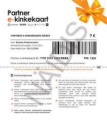 Gift Certificate Letter Template Purchase E Gift Card Partner E Kinkekaart