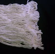the cotton i use is from an old mop head it works just fine as a wick and saves it from a land fill it will need to be soaked in clean