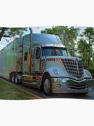 2009 International LoneStar Car Transport Semi-Truck | Poster
