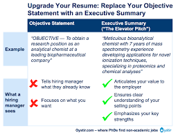 What Should Your Objective Be On Your Resume The Most Important Thing on Your Resume The Executive Summary 80