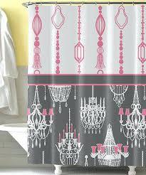 chandelier shower curtain pink gray target chandelier shower curtain