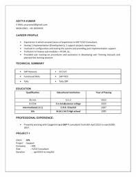 Sap Fico 2 Years Experience Resumes Download Resume Samples