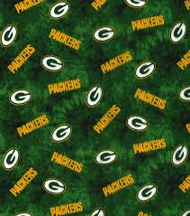 green bay packers flannel fabric 42 u0022 tie dye