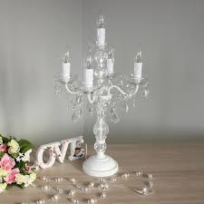 shabby chic furniture white chandelier style table lamp