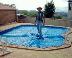 safety pool covers. Pool Safety Net Over Solar Blanket Covers P