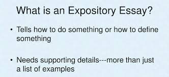 Define Expository Essay Expository Essays Exposed For Students