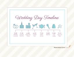 wedding day itinery wedding day timeline card itinerary for guests big day
