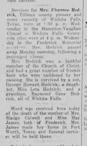 Obituary for Florence Hedrick - Newspapers.com