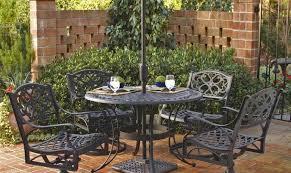 aluminum dining treasures lunburg garden cast modern rectangle tables piece patio furniture aluminium frame chairs and