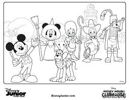 Mickey Mouse Clubhouse Coloring Pages Stockware