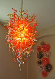 hand blown glass chandeliers